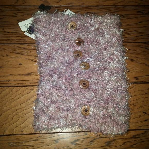 Simply Noelle Women/'s Knubby Button Neck Wrap